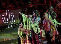 Yuridia en el palenque de la Expogan Sonora 2019.<br /> (Foto: Luis Gutierrez/NortePhoto)
