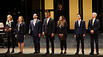 "Helen Hunt, Andrea Burns, Javier Munoz, Christopher Jackson, Tracie Thoms, Mateo Ferro and David Garrison during the Opening Night performance bows for ENCORES! Off-Center production of ""Working - A Musical""  at New York City Center on June 26, 2019 in New York City."