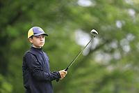 Josh Higgins (Donabate) during the Connacht U14 Boys Amateur Open, Ballinasloe Golf Club, Ballinasloe, Galway,  Ireland. 10/07/2019<br /> Picture: Golffile | Fran Caffrey<br /> <br /> <br /> All photo usage must carry mandatory copyright credit (© Golffile | Fran Caffrey)