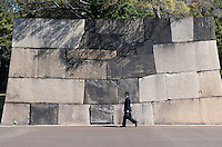 The massive stones of the inner walls at Higashi-Gyoen, the East Gardens of the Imperial Palace