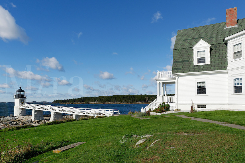 The Marshall Point Lighthouse and Museum,  Port Clyde, Maine,  USA