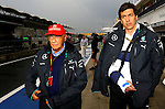 Niki Lauda (AUT) 3x F1 World Champion, Mercedes-Benz non-executive chairman of the board of directors - Toto Wolff [AUT] Mercedes GP<br /> for the complete Middle East, Austria & Germany Media usage only<br />  Foto © nph / Mathis