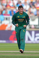 Notts Outlaws' Steven Mullaney celebrates taking the wicket of Hampshire's James Vince<br /> <br /> Photographer Andrew Kearns/CameraSport<br /> <br /> NatWest T20 Blast Semi-Final - Hampshire v Notts Outlaws - Saturday 2nd September 2017 - Edgbaston, Birmingham<br /> <br /> World Copyright &copy; 2017 CameraSport. All rights reserved. 43 Linden Ave. Countesthorpe. Leicester. England. LE8 5PG - Tel: +44 (0) 116 277 4147 - admin@camerasport.com - www.camerasport.com