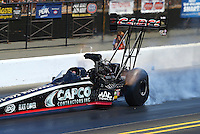 Jul. 26, 2014; Sonoma, CA, USA; NHRA top fuel driver Billy Torrence during qualifying for the Sonoma Nationals at Sonoma Raceway. Mandatory Credit: Mark J. Rebilas-