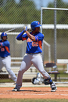 New York Mets Michael Bernal (52) during a minor league spring training game against the St. Louis Cardinals on April 1, 2015 at the Roger Dean Complex in Jupiter, Florida.  (Mike Janes/Four Seam Images)