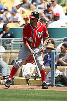 04/29/12 Los Angeles, CA: Washington Nationals right fielder Bryce Harper #34 during an MLB game between the Washington Nationals and the Los Angeles Dodgers played at Dodger Stadium. The Dodgers defeated the Nationals 2-0.