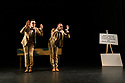 "London, UK. 09.10.19. Deaf Men Dancing present ""Time"", a triple bill of work, comprising ""Hear! Hear!"", ""TEN"" and ""The Progress Score"", as part of Greenwich Performs, at Laban Theatre, Greenwich, on the 9th and 10th October.  The piece shown is: TEN, choreographed by Mark Smith and re-created by Joseph Fletcher. Lighting design is by Jonathan Samuels, with costume and set design by Ryan Dawson Laight.The dancers are: Joshua Kyle-Cantrill (Mutt), Aaron Rahn (Jeff)."