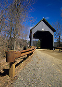 Best Covered Bridge in Brownsville, Vermont USA on Churchill Road. This bridge crosses over Mill Brook.