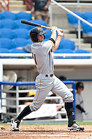 Austin McClune (31) of the Bradenton Marauders during a game vs. the Dunedin Blue Jays May 16 2010 at Dunedin Stadium in Dunedin, Florida. Bradenton won the game against Dunedin by the score of 3-2.  Photo By Scott Jontes/Four Seam Images