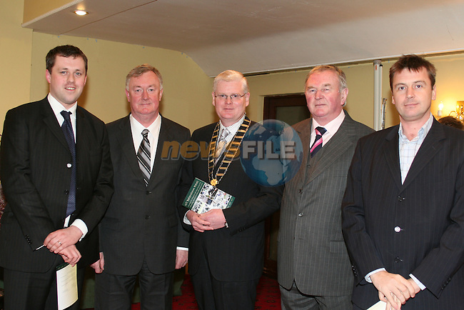 Thomas Byrne, Fianna Fail, Minister John O'Donoghue, Cllr. Frank Maher, Cllr. Patrick Boshell and Cllr. Dominic Hannigan at the launch of the Bellewstown Races at the Boyne Valley Hotel...Photo NEWSFILE/Jenny Matthews.(Photo credit should read Jenny Matthews/NEWSFILE)....This Picture has been sent you under the condtions enclosed by:.Newsfile Ltd..The Studio,.Millmount Abbey,.Drogheda,.Co Meath..Ireland..Tel: +353(0)41-9871240.Fax: +353(0)41-9871260.GSM: +353(0)86-2500958.email: pictures@newsfile.ie.www.newsfile.ie.FTP: 193.120.102.198.