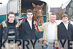 HUNT: Donal Foley (Killarney), James Sweeney, Anthony Sweeney and Kian Sheehan (Killorglin) at the hunt in Killorglin, on Sunday.   Copyright Kerry's Eye 2008