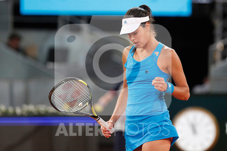 Russian tennis player Ana Ivanovic during Madrid Open Tennis 2014 match. May 06, 2014. (ALTERPHOTOS/Victor Blanco)