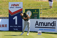 Carlos Pigem (ESP) on the 1st tee during Round 1 of the HNA Open De France at Le Golf National in Saint-Quentin-En-Yvelines, Paris, France on Thursday 28th June 2018.<br /> Picture:  Thos Caffrey | Golffile