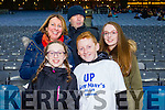 Bernie Mooney, Sarah Reidy, Kevin Reidy, Ferdia Greaney, Aisling Reidy, supporting St. Mary's, Caherciveen at the All Ireland Intermediate football final held in Croke Park on Sunday last.