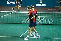 1st November 2019, AccorHotels Arena, Bercy, Paris, France; Rolex Paris Masters tennis tournament;  Nicolas Mahut and Pierre Hugues Herbert (FRA)