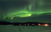 Northern lights streak across the sky over Kaltag on Saturday night