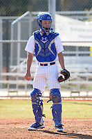 South Dakota State JackRabbits catcher Trey Lapke (5) during practice before a game against the Maine Black Bears at South County Regional Park on March 9, 2014 in Port Charlotte, Florida.  Maine defeated South Dakota 5-4.  (Mike Janes/Four Seam Images)