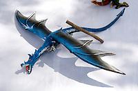 Painted flying winged dragon for sale. Dragon Festival Lake Phalen Park St Paul Minnesota USA