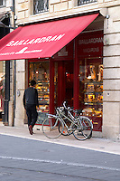 Baillardran canele shop on Cours de l'Intendance. Bordeaux city, Aquitaine, Gironde, France