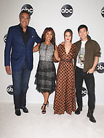 BEVERLY HILLS, CA - August 7: Brad Garrett, Channing Dungey, Leighton Meester, Jake Choi, at Disney ABC Television Hosts TCA Summer Press Tour at The Beverly Hilton Hotel in Beverly Hills, California on August 7, 2018. <br /> CAP/MPI/FS<br /> &copy;FS/MPI/Capital Pictures