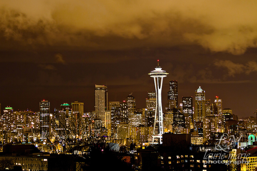 Nightime Seattle Skyline with Space Needle
