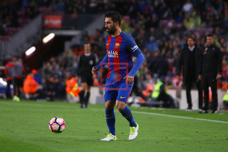 League Santander 2016/2017. Game: 34.<br /> FC Barcelona vs CA Osasuna: 7-1.<br /> Arda Turan.