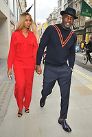 Sabrina Dhowre and Idris Elba at the Stella McCartney new eco-friendly flagship store opening party, Stella McCartney, Old Bond Street, London, England, UK, on Tuesday 12 June 2018.<br /> CAP/CAN<br /> &copy;CAN/Capital Pictures