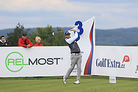 Jens Dantorp (SWE) on the 3rd tee during Round 4 of the D+D Real Czech Masters at the Albatross Golf Resort, Prague, Czech Rep. 03/09/2017<br /> Picture: Golffile | Thos Caffrey<br /> <br /> <br /> All photo usage must carry mandatory copyright credit     (&copy; Golffile | Thos Caffrey)