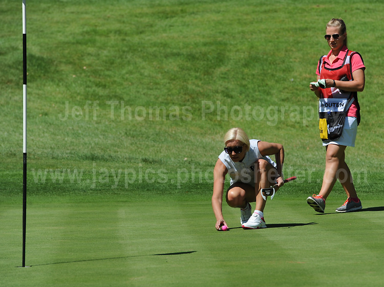 Actress and tv personality Denise Van Outen on the course during The 2017 Celebrity Cup golf tournament at the Celtic Manor Resort, Newport, South Wales. 1.07.2017 <br /> <br /> <br /> Jeff Thomas Photography -  www.jaypics.photoshelter.com - <br /> e-mail swansea1001@hotmail.co.uk -<br /> Mob: 07837 386244 -