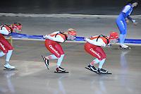 SCHAATSEN: HEERENVEEN: 24-06-2014, IJsstadion Thialf, Zomerijs training, Rens Rotteveel, Sjoerd de Vries, Robert Bovenhuis, ©foto Martin de Jong