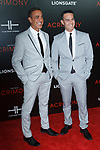 """Producers Ozzie Areu and Will Areu arrive on the red-carpet for Tyler Perry""""s ACRIMONY movie premiere at the School of Visual Arts Theatre in New York City, on March 27, 2018."""