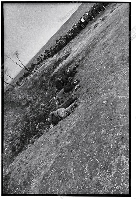Bodies of the eight criminals and counter-revolutionaries after their execution, Outskirts of Harbin, 5 April 1968
