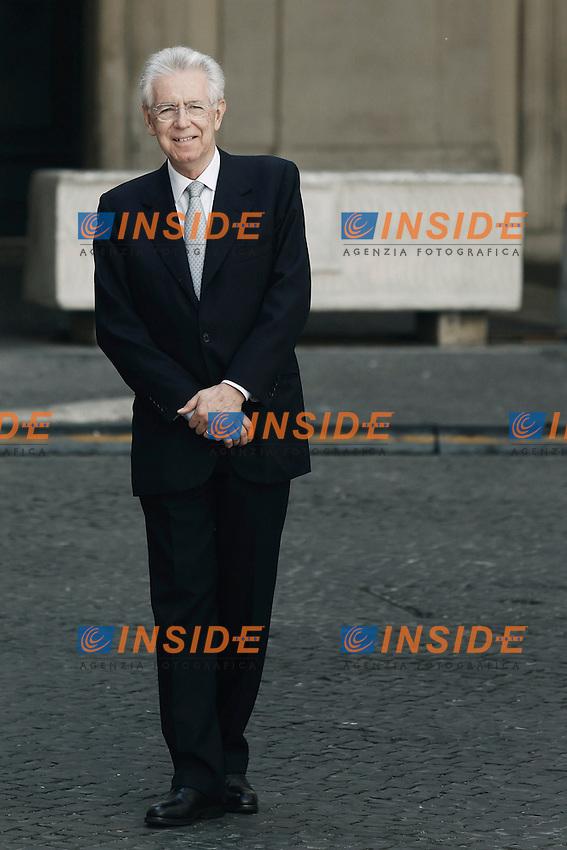 Mario Monti .Roma 17/07/2012 Incontro tra il Presidente del Consiglio Italiano, e  il Presidente dell'Autorità Nazionale Palestinese.Foto Serena Cremaschi Insidefoto