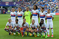 20170601 - CARDIFF , WALES : Lyon's team line-up pictured with Sarah Bouhaddi , Wendie Renard , Saki Kumagai , Amel Majri , Eugenie Le Sommer , Dzsenifer Marozsan , Ada Hegerberg , Kadeisha Buchanan , Camille Abily , Griedge M'bock Bathy and Alex Morgan  during a womensoccer match between the teams of  Olympique Lyonnais and PARIS SG, during the final of the Uefa Women Champions League 2016 - 2017 at the Cardiff City Stadium , Cardiff - Wales - United Kingdom , Thursday 1  June 2017 . PHOTO SPORTPIX.BE | DAVID CATRY