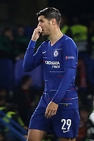 Alvaro Morata of Chelsea during Chelsea vs MOL Vidi, UEFA Europa League Football at Stamford Bridge on 4th October 2018