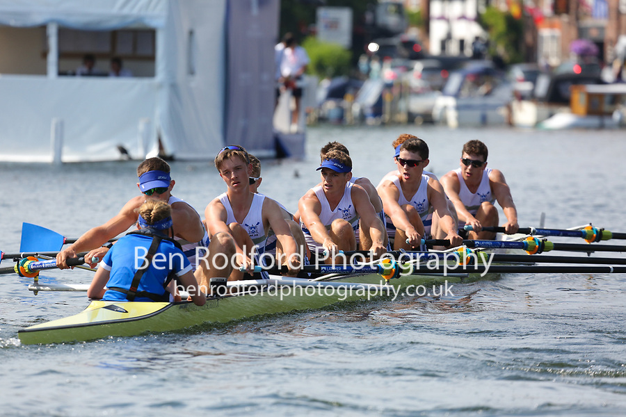 THE PRINCESS ELIZABETH CHALLENGE CUP<br /> Norwich School (144)<br /> Latymer Upper School (141)<br /> <br /> Henley Royal Regatta 2018 - Thursday<br /> <br /> To purchase this photo, or to see pricing information for Prints and Downloads, click the blue 'Add to Cart' button at the top-right of the page.