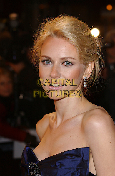 "NAOMI WATTS.""King Kong"" UK film premiere.Odeon Leicester Square.London England 8 December 2005.Ref: FIN.headshot portrait .www.capitalpictures.com.sales@capitalpictures.com.© Capital Pictures."