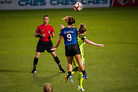 Kansas City, MO - Saturday June 17, 2017: Lo'eau Labonta, Lindsay Elston during a regular season National Women's Soccer League (NWSL) match between FC Kansas City and the Seattle Reign FC at Children's Mercy Victory Field.