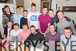 Farewell dinner for Cathal O' Donoghue, Racecourse Lawn Tralee, (seated 4th) who's off to New Zealand working. Pictured here with friends at Bella Bia's on Monday