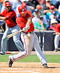 5 March 2011: Washington Nationals' third baseman Ryan Zimmerman in action during a Spring Training game against the New York Yankees at George M. Steinbrenner Field in Tampa, Florida. The Nationals defeated the Yankees 10-8 in Grapefruit League action. Mandatory Credit: Ed Wolfstein Photo