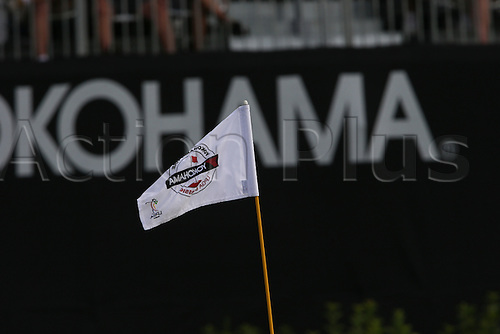 30.08.2015. Prattville, AL, USA.   Flag on the 18th green during the final round of the 2015 Yokohama Tire LPGA Classic at RTJ Golf Trail, Capitol Hill, Senator Course, Prattville, AL.