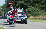 SITTARD, NETHERLANDS - AUGUST 16: Amael Moinard of France riding for BMC Racing team competes during stage 5 of the Eneco Tour 2013, a 13km individual time trial from Sittard to Geleen, on August 16, 2013 in Sittard, Netherlands. (Photo by Dirk Markgraf/www.265-images.com)