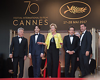 Emma Thompson, Ben Stiller, Dustin Hoffman, Noah Baumbach &amp; Adam Sandler at the premiere for &quot;The Meyerowitz Stories&quot; at the 70th Festival de Cannes, Cannes, France. 21 May  2017<br /> Picture: Paul Smith/Featureflash/SilverHub 0208 004 5359 sales@silverhubmedia.com