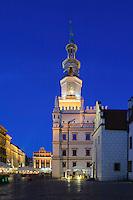 Rathaus am alten Marktplatz (Stary Rynek) in Posnan (Posen), Woiwodschaft Gro&szlig;polen (Wojew&oacute;dztwo wielkopolskie), Polen Europa<br /> townhall at Old Market Place (Stary Rynek) in Pozan, Poland, Europe