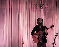 Sam Beam of Iron And Wine performs at Loma Vista Gardens in Big Sur, California on September 22, 2016.