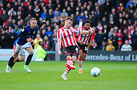 Lincoln City's Lee Frecklington sees his penalty saved<br /> <br /> Photographer Andrew Vaughan/CameraSport<br /> <br /> The EFL Sky Bet League Two - Lincoln City v Crewe Alexandra - Saturday 6th October 2018 - Sincil Bank - Lincoln<br /> <br /> World Copyright &copy; 2018 CameraSport. All rights reserved. 43 Linden Ave. Countesthorpe. Leicester. England. LE8 5PG - Tel: +44 (0) 116 277 4147 - admin@camerasport.com - www.camerasport.com