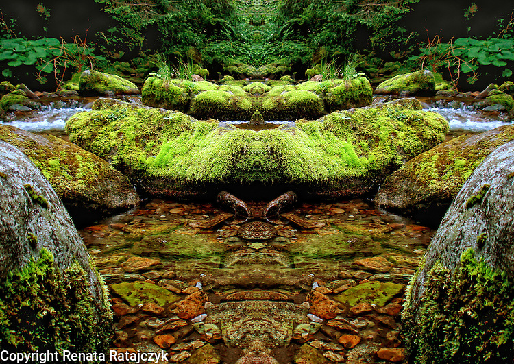 Magic Stream - digitally enhanced photography, fantasy landscape.