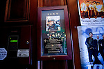 A photo of Rosaleen's brother Sean at a local Irish pub in their Yonkers neighborhood..A day in the life of Rosaleen Tallon, sister of firefighter Sean Tallon killed in the 9/11 World Trade Center attacks. In response to the proposed WTC memorial being built underground at the site, Ms. Tallon has been sleeping for 16 days in front of the fire house across from the WTC site. She and several other WTC families are protesting the memorial design and asking for the victim's names to be placed above ground for the sake of honoring the lives lost and safety concerns with any possible future evacuation of the site.