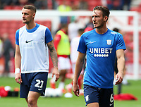 Preston North End's Ben Davies during the pre-match warm-up <br /> <br /> Photographer David Shipman/CameraSport<br /> <br /> The EFL Sky Bet Championship - Nottingham Forest v Preston North End - Saturday 31st August 2019 - The City Ground - Nottingham<br /> <br /> World Copyright © 2019 CameraSport. All rights reserved. 43 Linden Ave. Countesthorpe. Leicester. England. LE8 5PG - Tel: +44 (0) 116 277 4147 - admin@camerasport.com - www.camerasport.com