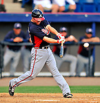 4 March 2011: Atlanta Braves infielder Tyler Pastornicky in action during a Spring Training game against the Washington Nationals at Space Coast Stadium in Viera, Florida. The Braves defeated the Nationals 6-4 in Grapefruit League action. Mandatory Credit: Ed Wolfstein Photo
